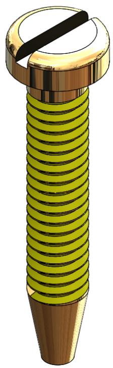 Thread-Seeker Locking Spring Hinge/Eyewire Screw