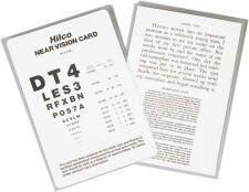 English Near Vision Card