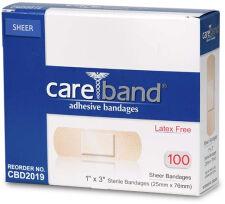 Care Band Sheer Adhesive Bandages