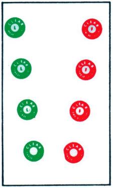Life Saver Colored Circle Cards
