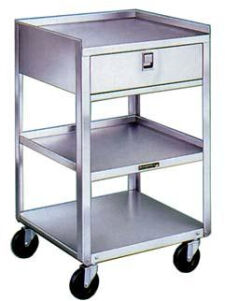 Lakeside Stainless Steel Carts - Three Shelves, One Drawer