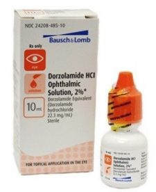 Dorzolamide HCl 2% Ophthalmic Drops Dropper Bottle 10 mL