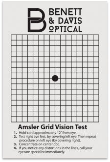 Amsler Grid Card