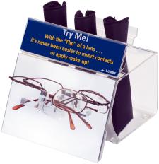 Contact Lens/Make-up Magnifier Display